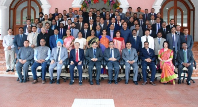 All India ITAT Members' Refresher Course 2017 at Maharashtra Judicial Academy, Mumbai: Group Photo with Hon'ble Dr Justice Muralidhar, Judge, High Court of Delhi and  Hon'ble Mr Justice M. S. Sanklecha, Judge, High Court of Bombay.