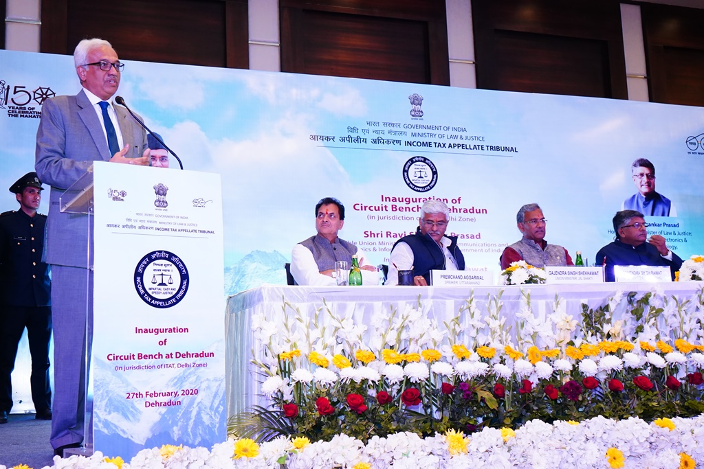 Hon'ble President Justice PP Bhatt welcoming the Chief Guest and Guests of Honor on this occasion.