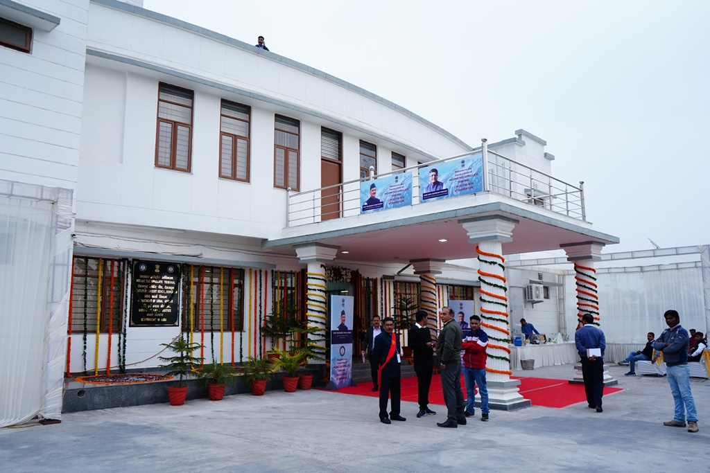 An outer view of the new office complex of ITAT Circuit Bench at Dehradun.