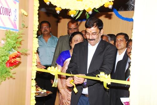Shri Chandra Poojari, Senior Member inaugurating a Court Room.