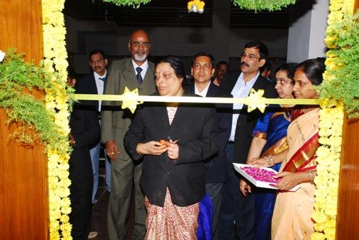 Smt. Asha Vijaya Raghavan, Judicial Member inagurating a Court Room.