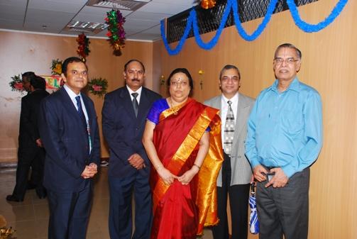 Smt. Asha Vijaya Raghavan, Judicial Member with Hon'ble Justice Shri T.N.C. Rangarajan, Retired Judge of Andhra Pradesh High Court (first from right).