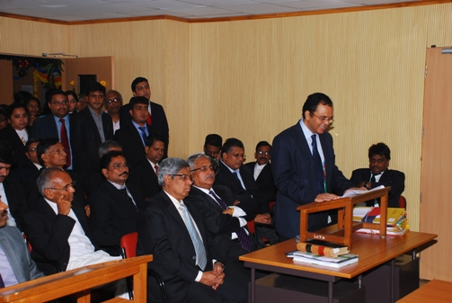 Members of Bar congratulating Shri D. Manmohan, Vice President (HZ & MZ) and Members of the Income Tax Appellate Tribunal, Hyderabad Benches on this occasion.