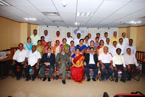 Shri D. Manmohan, Vice President (HZ & MZ) with Members and Staff of Income Tax Appellate Tribunal, Hyderabad Benches, Hyderabad.